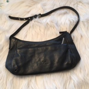 Stone Mountain Purse In Black Leather And EUC!